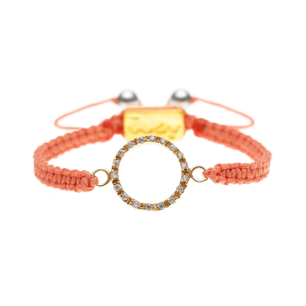 دستبند طلا دایره بزرگ