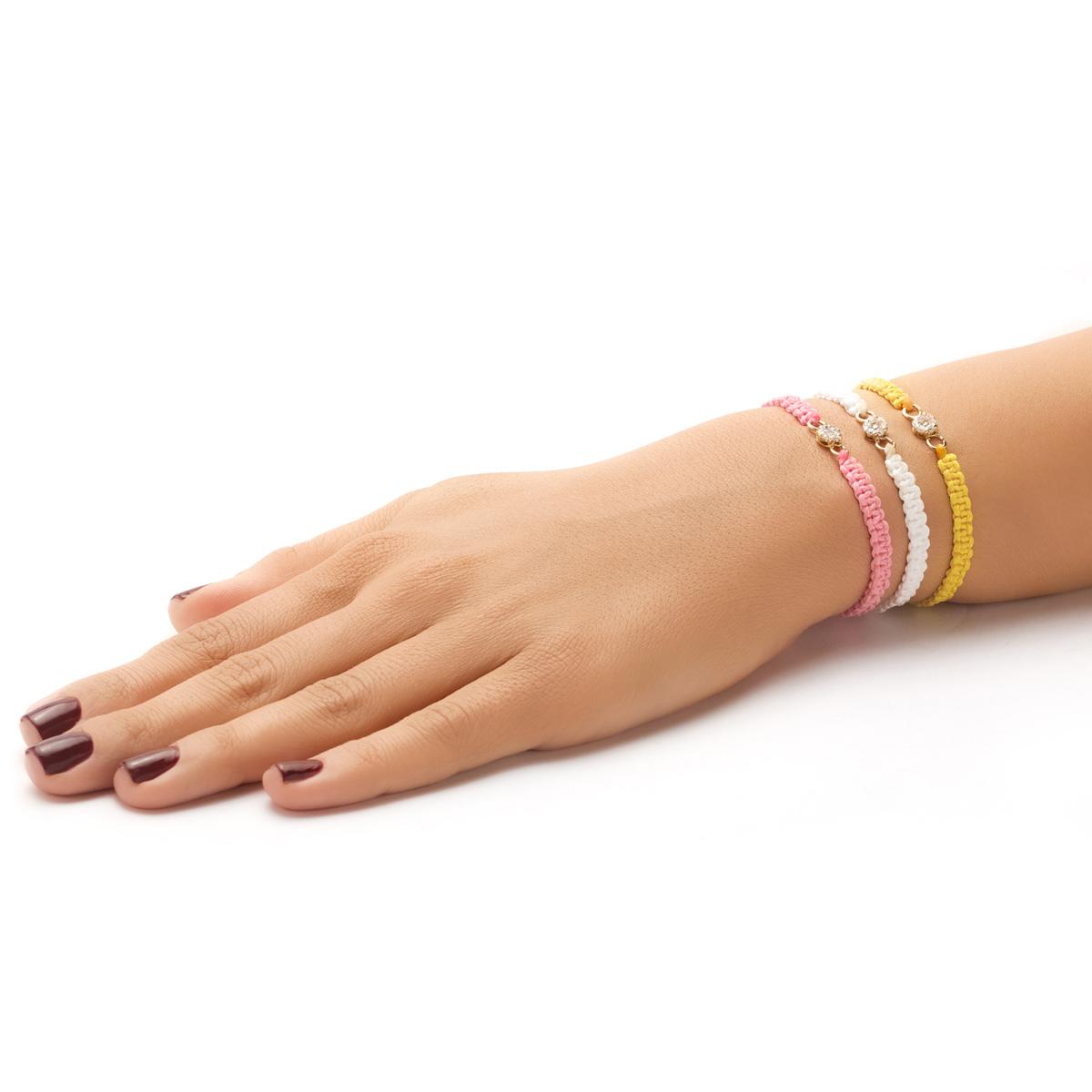 دستبند بافت Flower