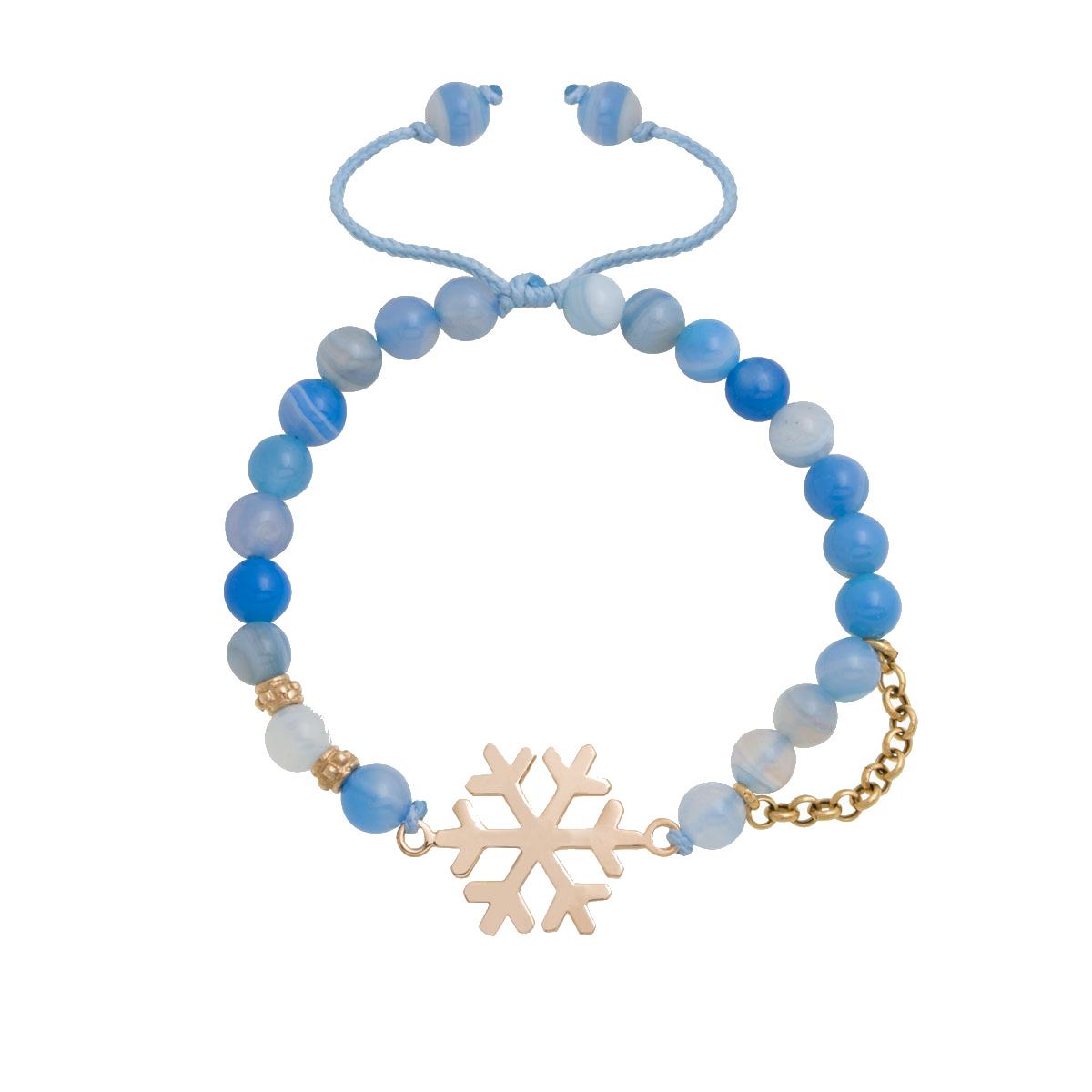 دستبند طلا دانه برف
