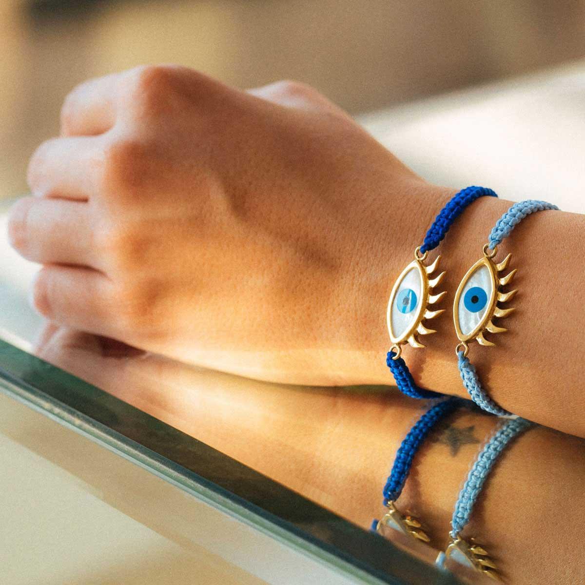 دستبند طلا چشم ۲