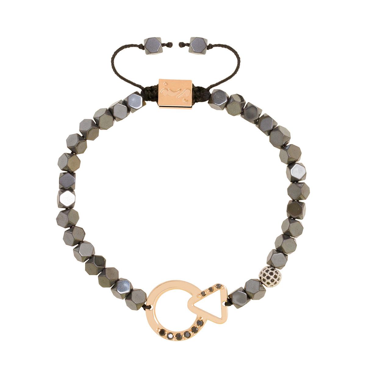 دستبند طلا دایره و مثلث