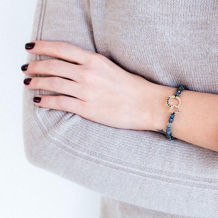 دستبند طلا دایره و مثلث ۲