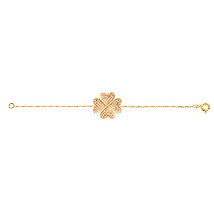 دستبند طلا شبدر