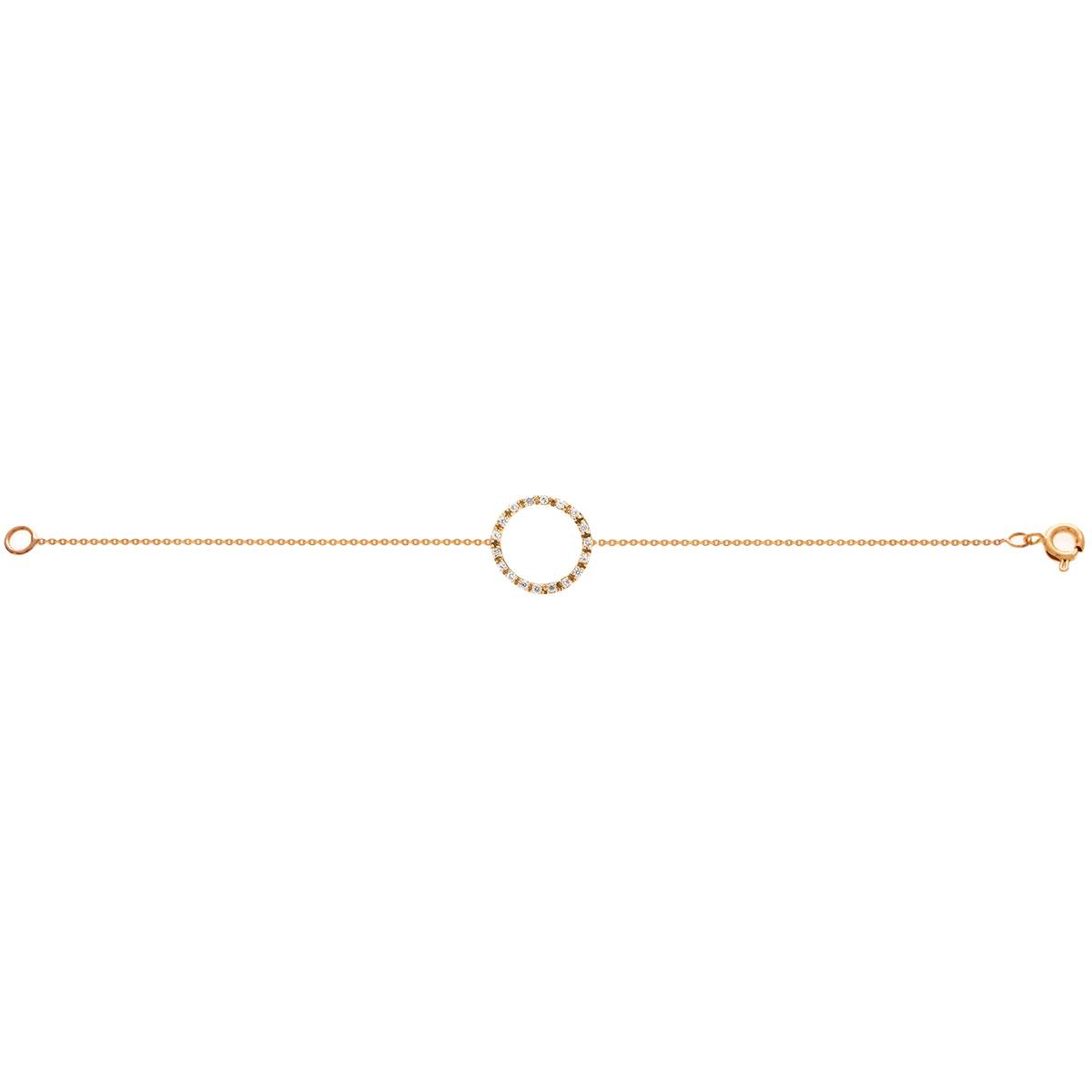 دستبند طلا دایره کوچک