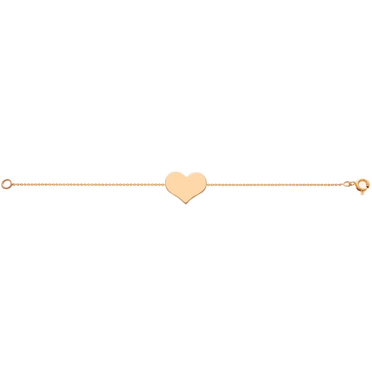 دستبند طلا قلب متوسط