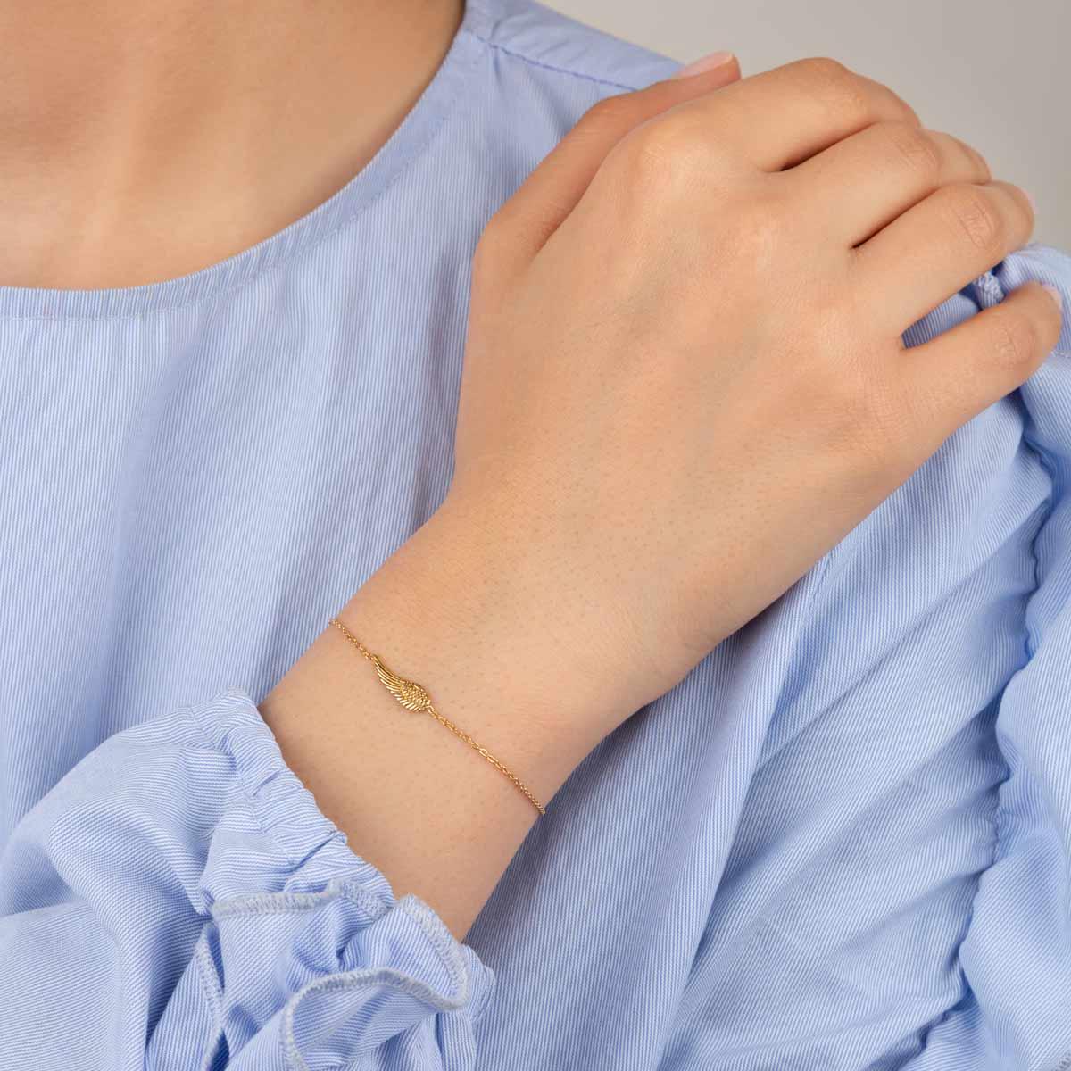 دستبند طلا بال فرشته کوچک