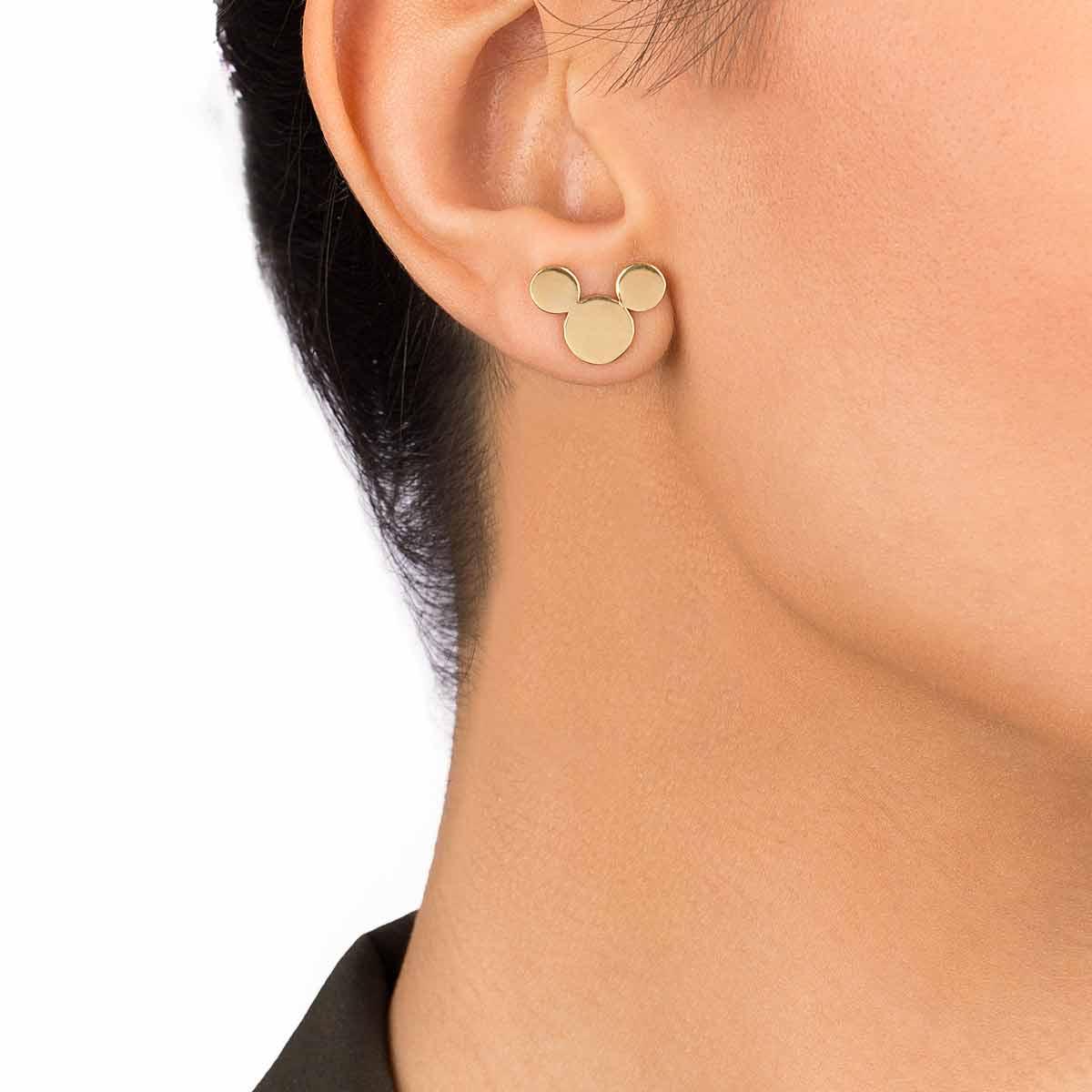 گوشواره طلا میکی ماوس