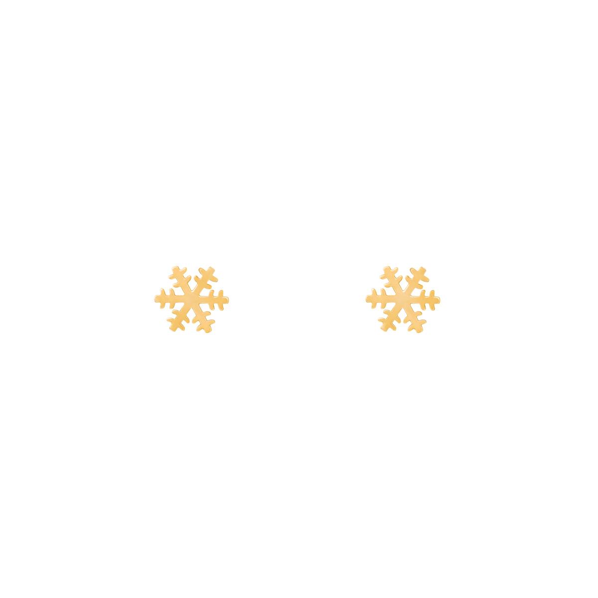 گوشواره طلا دانه برف