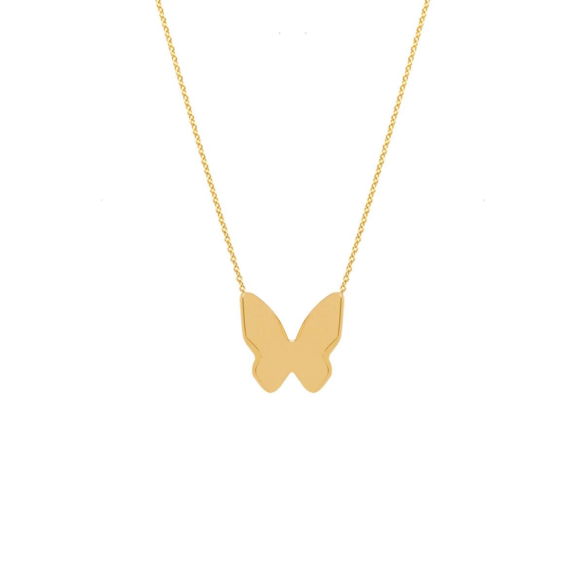 پرسته گردنبند طلا پروانه بزرگ