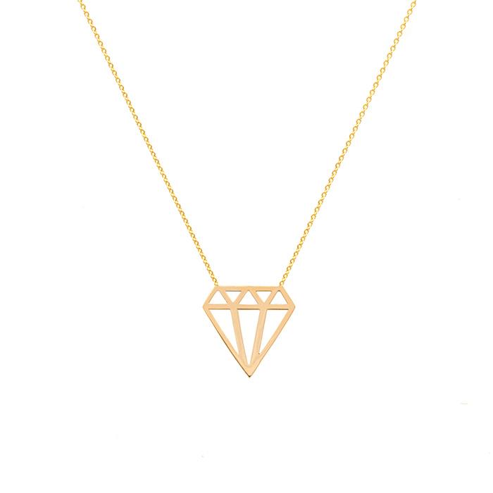 پرسته گردنبند طلا الماس