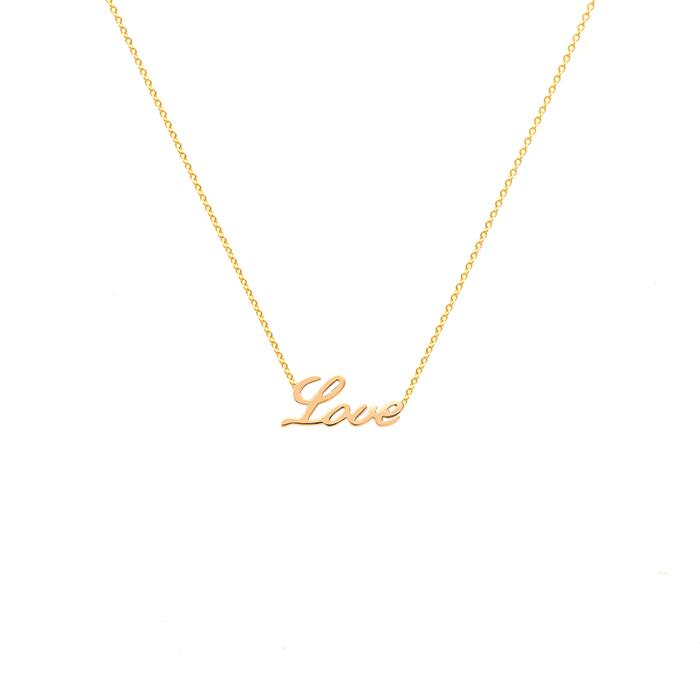 پرسته گردنبند طلا Love