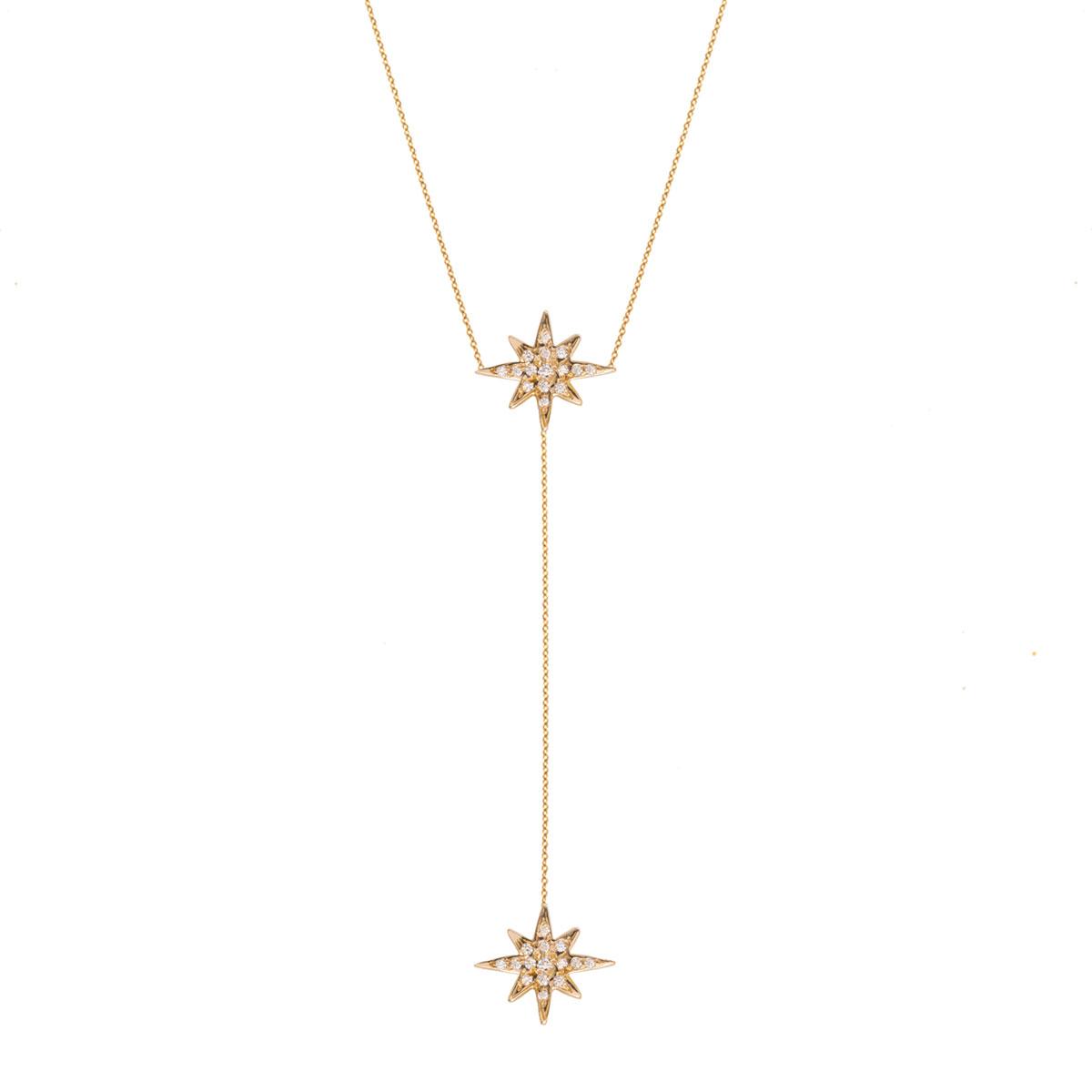 پرسته گردنبند طلا ستاره