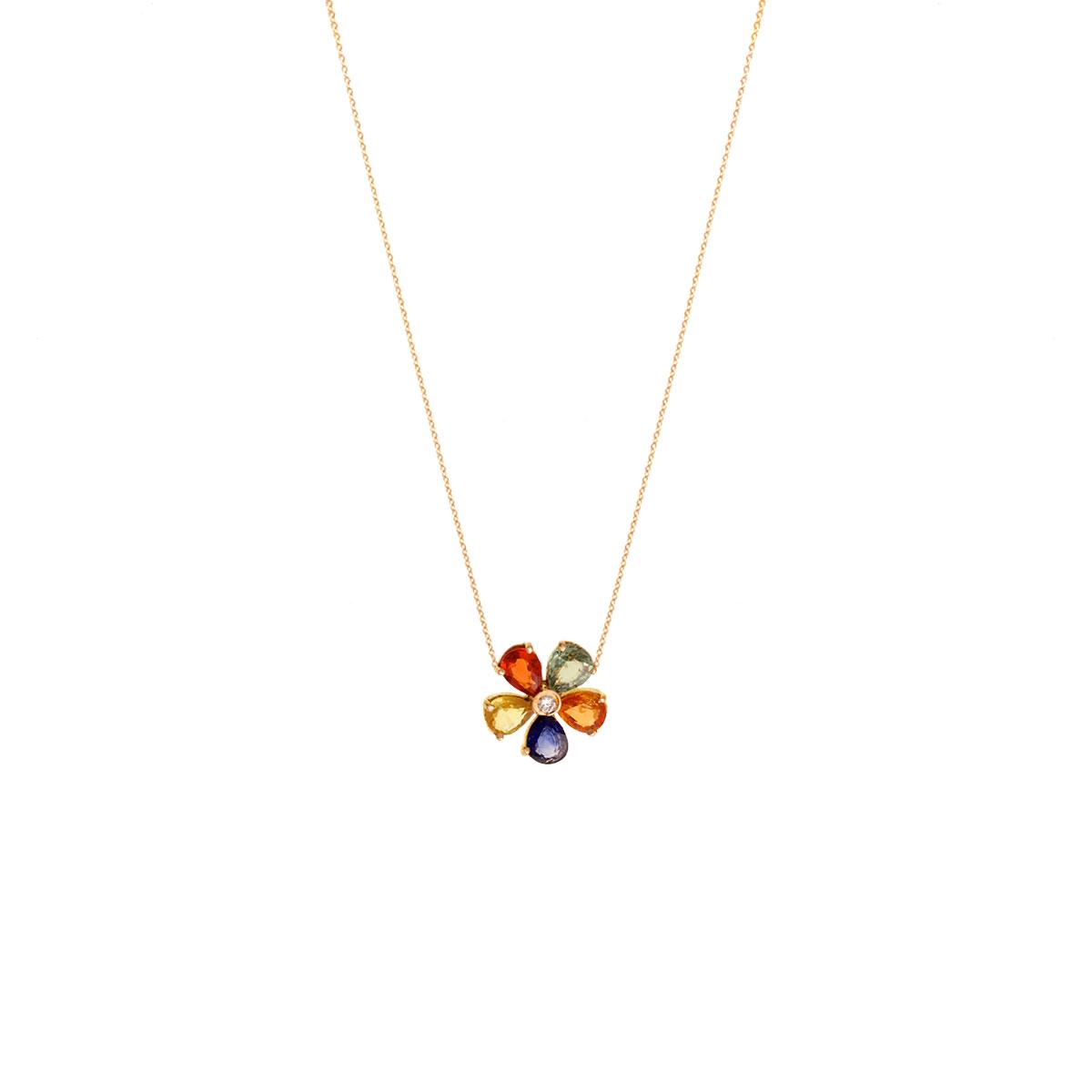 پرسته گردنبند طلا Multicolour