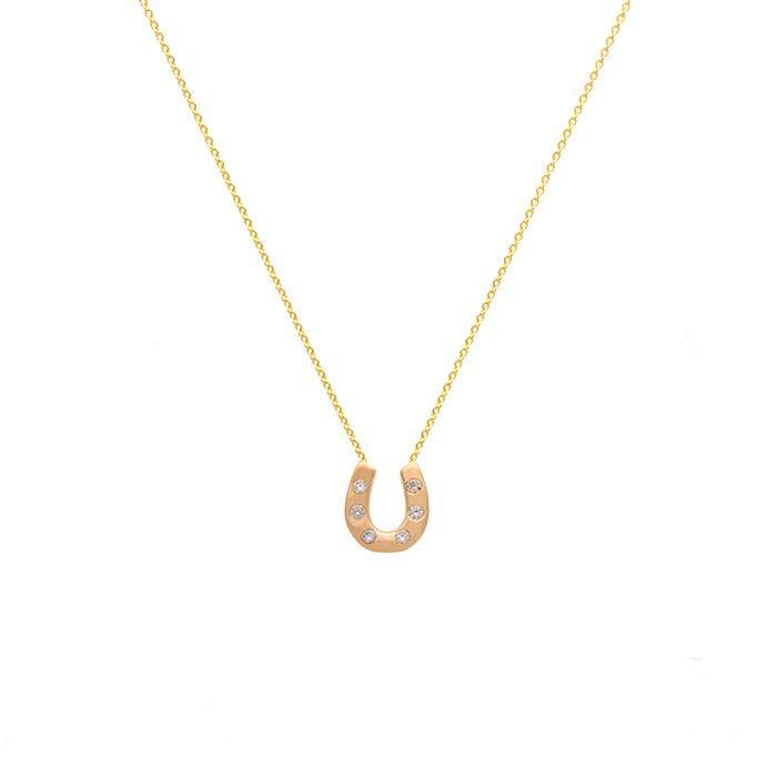 پرسته گردنبند طلا نعل اسب