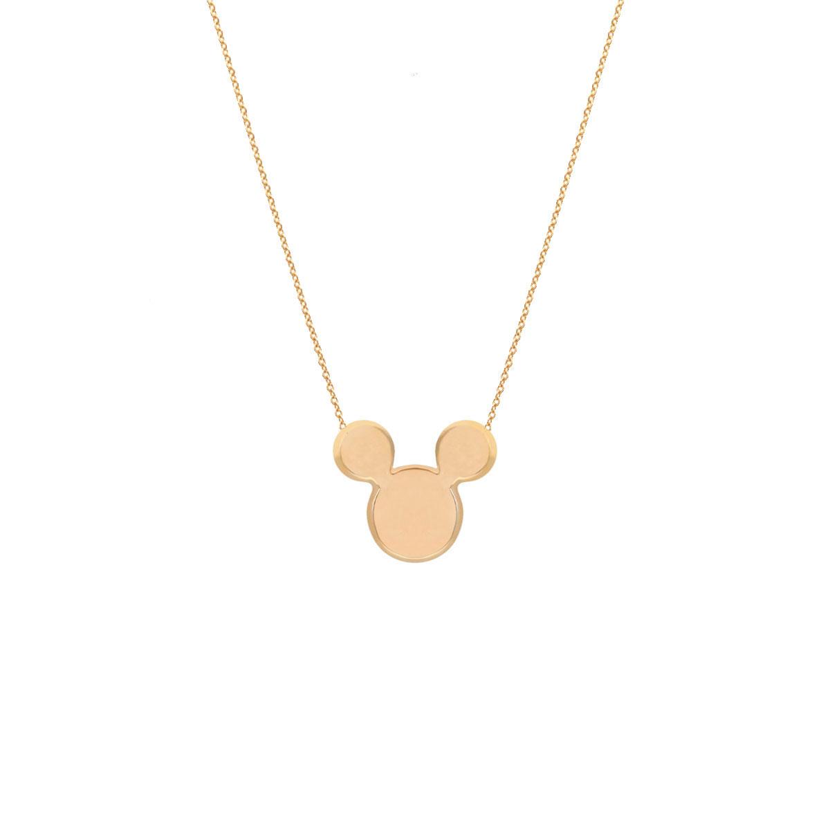 پرسته گردنبند طلا Mickey Mouse