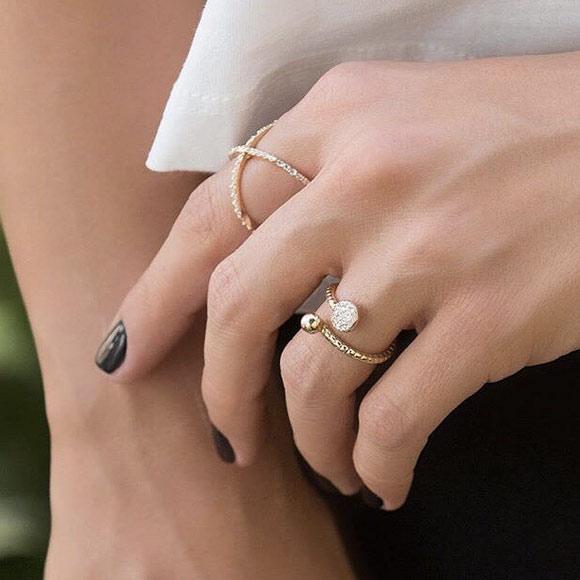 انگشتر طلا نادیا
