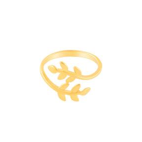 انگشتر طلا برگ زیتون