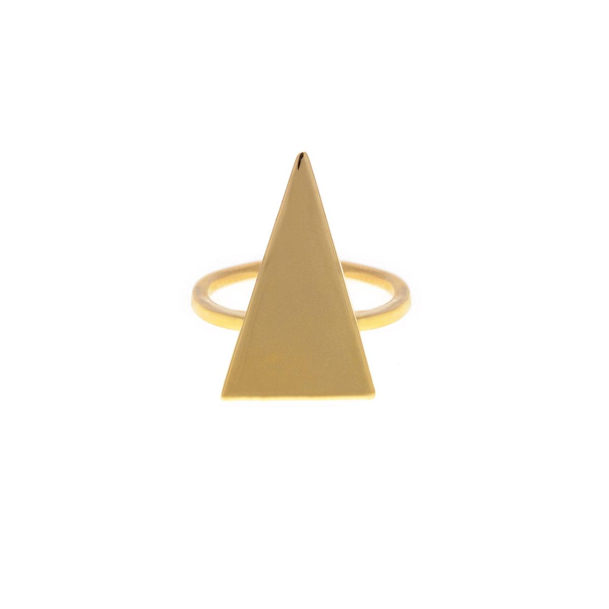 پرسته انگشتر طلا مثلث