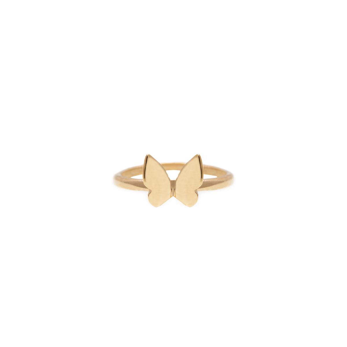 پرسته انگشتر طلا بند انگشتی پروانه کوچک