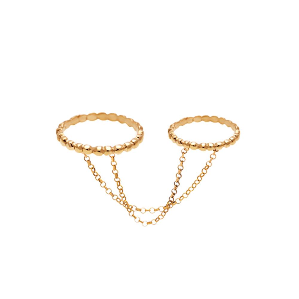 حلقه طلا توپی متصل