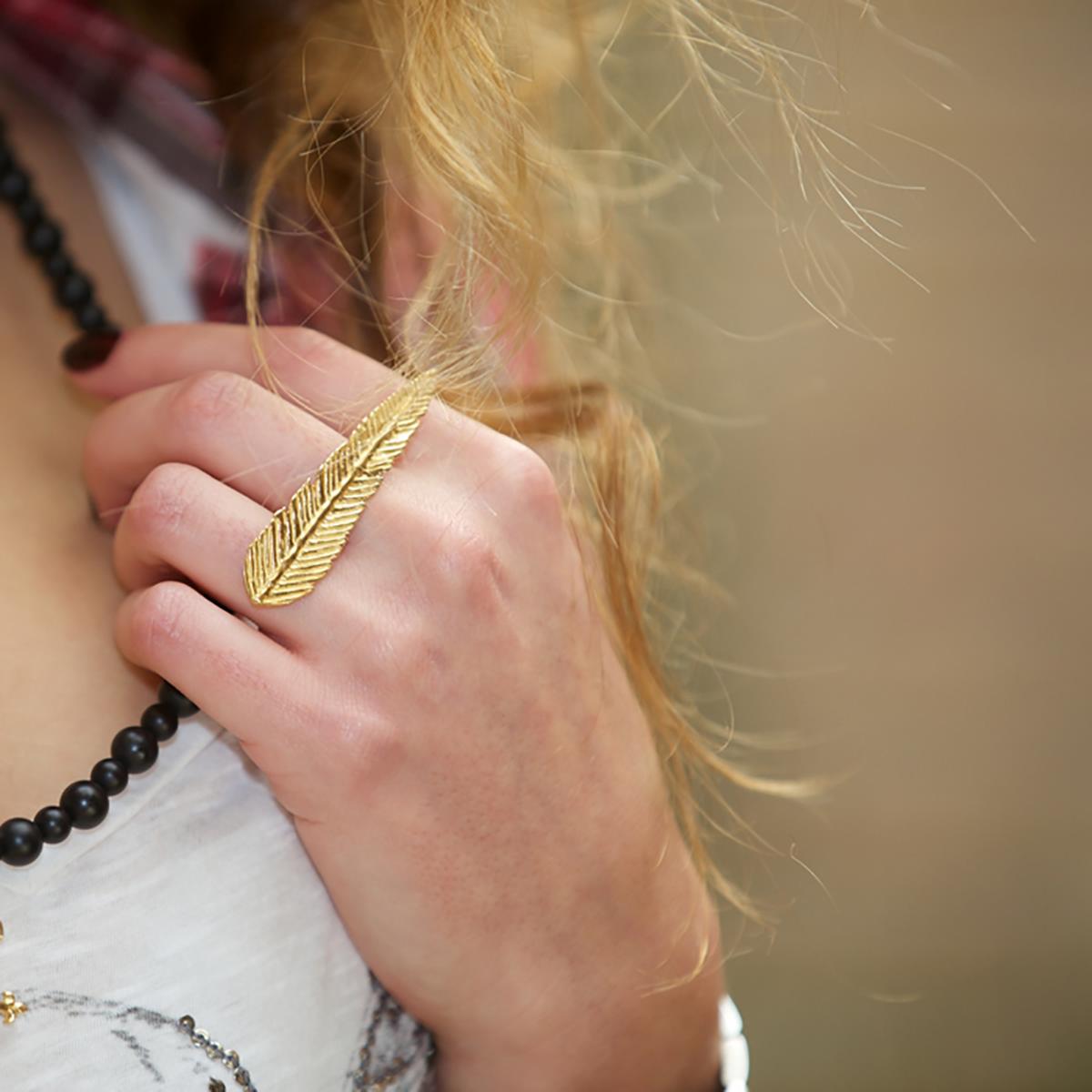 انگشتر طلا پر سه انگشتی 2