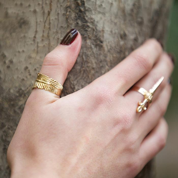 انگشتر طلا پر 2