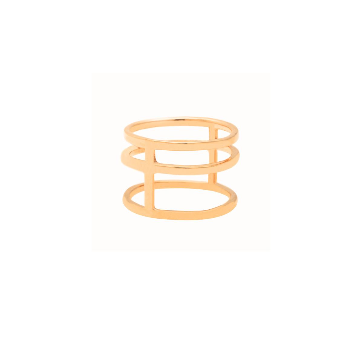 پرسته انگشتر طلا سه حلقه