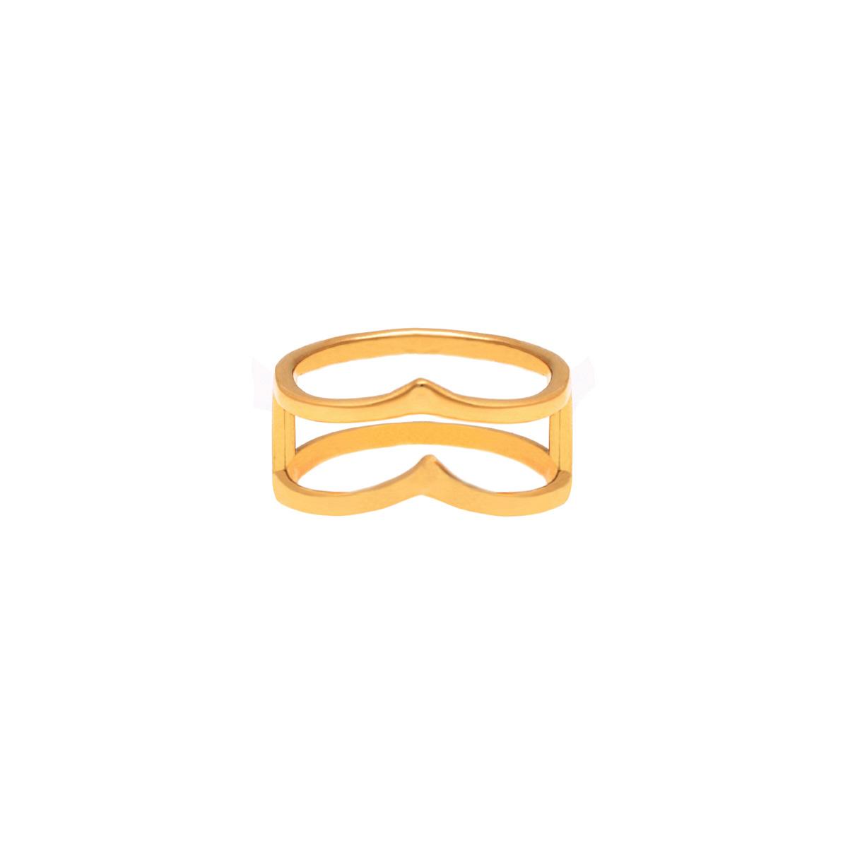 انگشر طلا دو حلقه