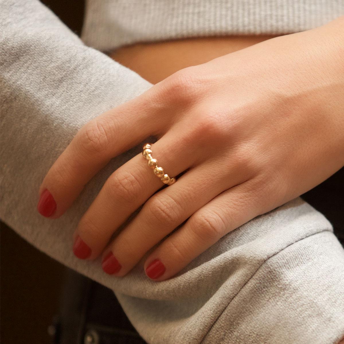انگشتر طلا توپ توپی ۲