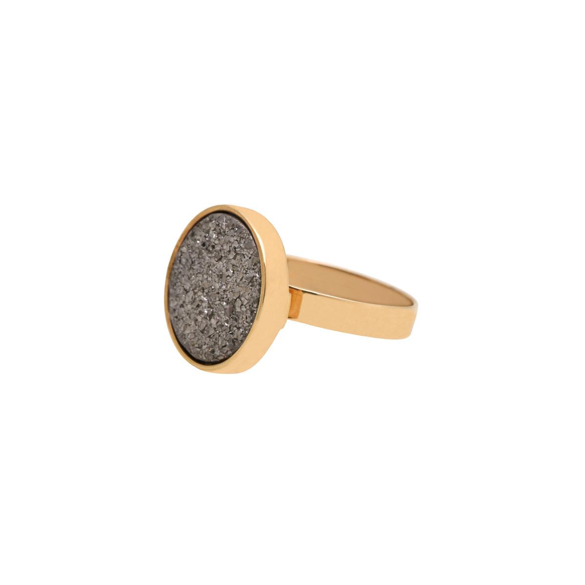 انگشتر طلا کوارتز نقره ای 2
