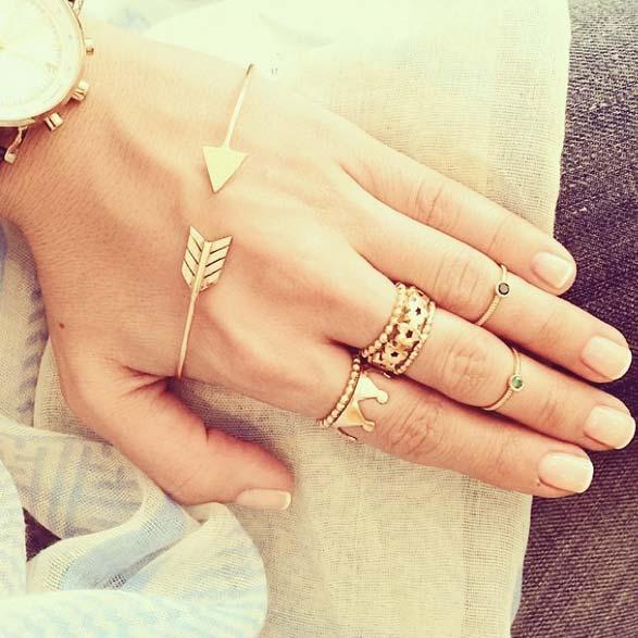 انگشتر طلا بند انگشتی تاج