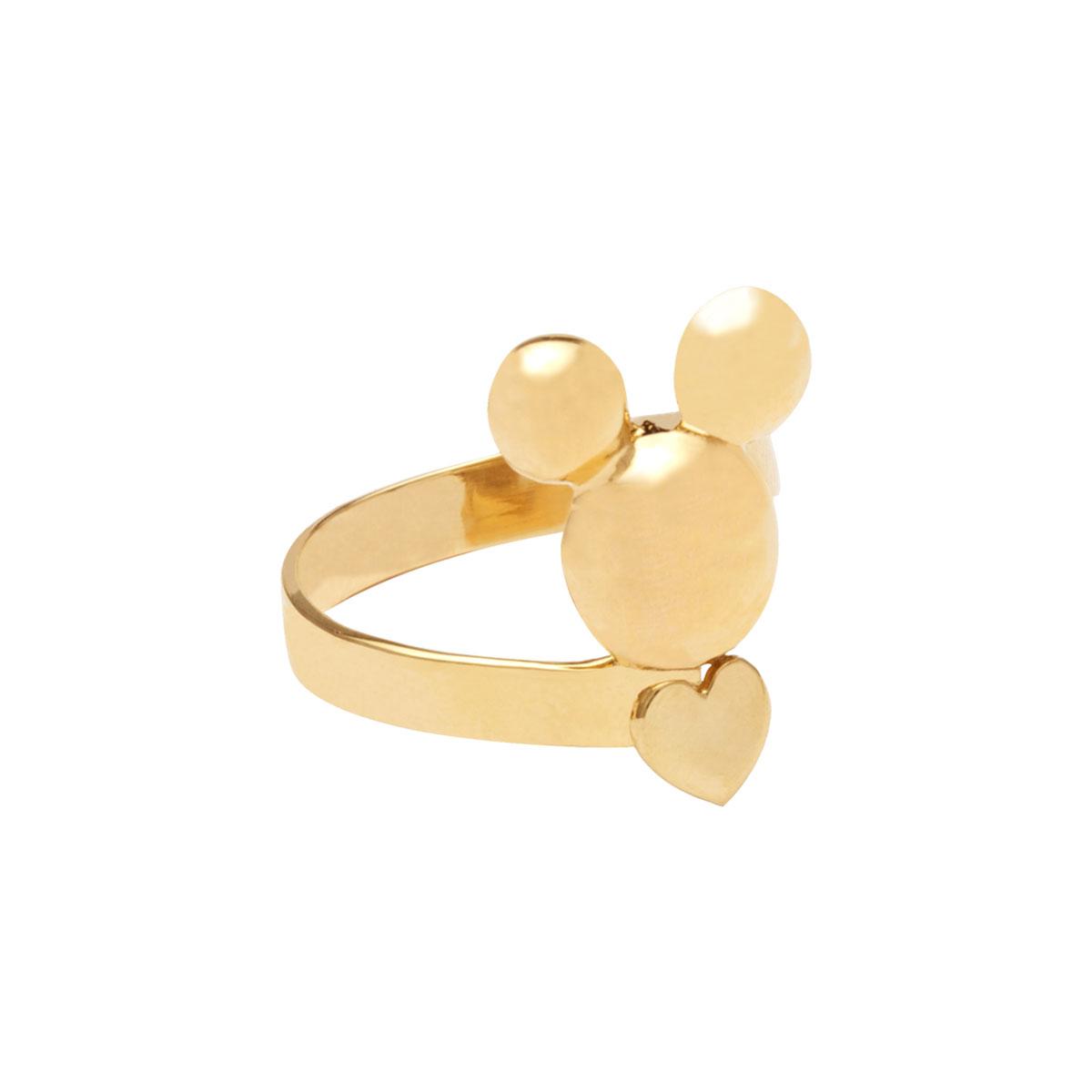 انگشتر طلا Mickey mouse و قلب ۲
