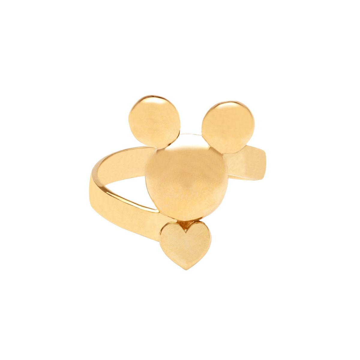 پرسته انگشتر طلا Mickey mouse و قلب