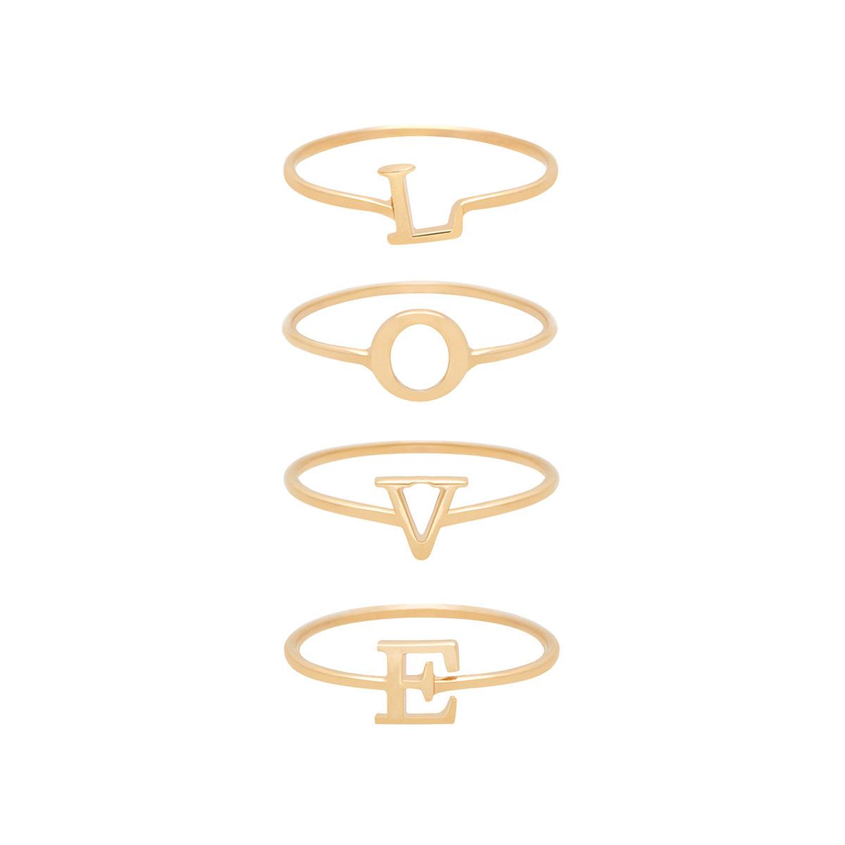 پرسته انگشتر طلا L-O-V-E