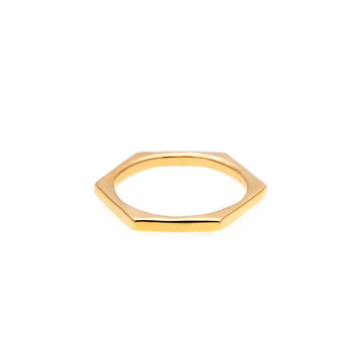 پرسته انگشتر طلا شش ضلعی