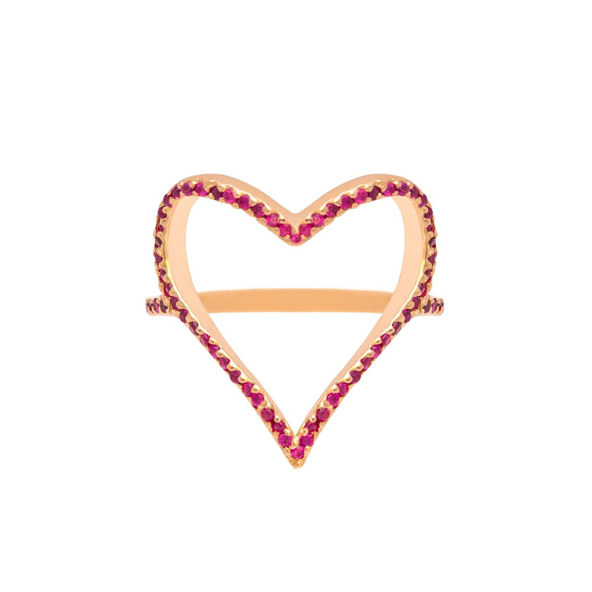 پرسته انگشتر طلا Heart