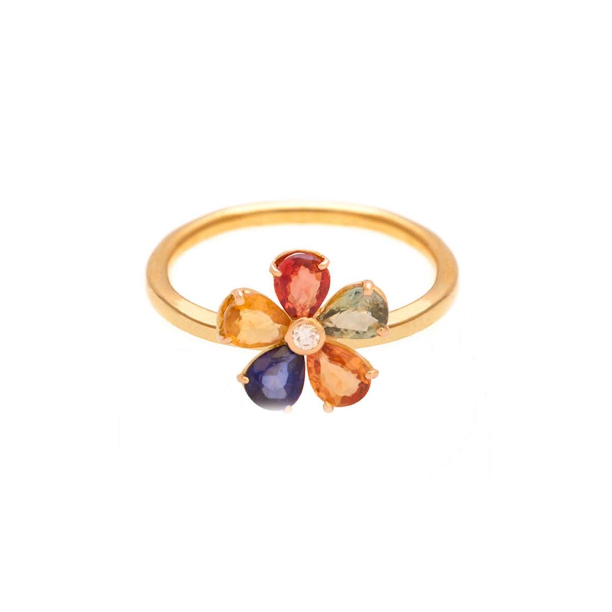 پرسته انگشتر طلا Multicolour
