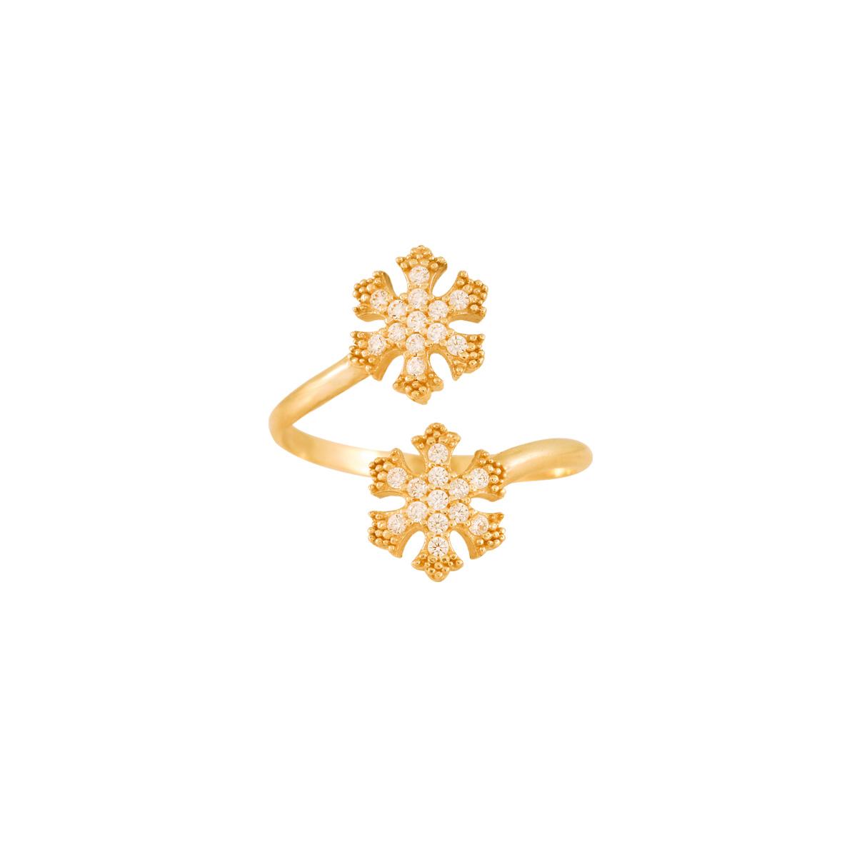 پرسته انگشتر طلا دانه برف