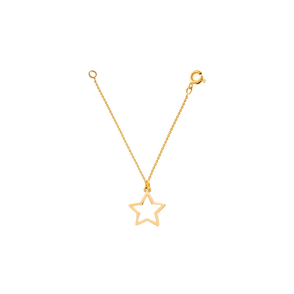 آویز ساعت طلا ستاره توخالی