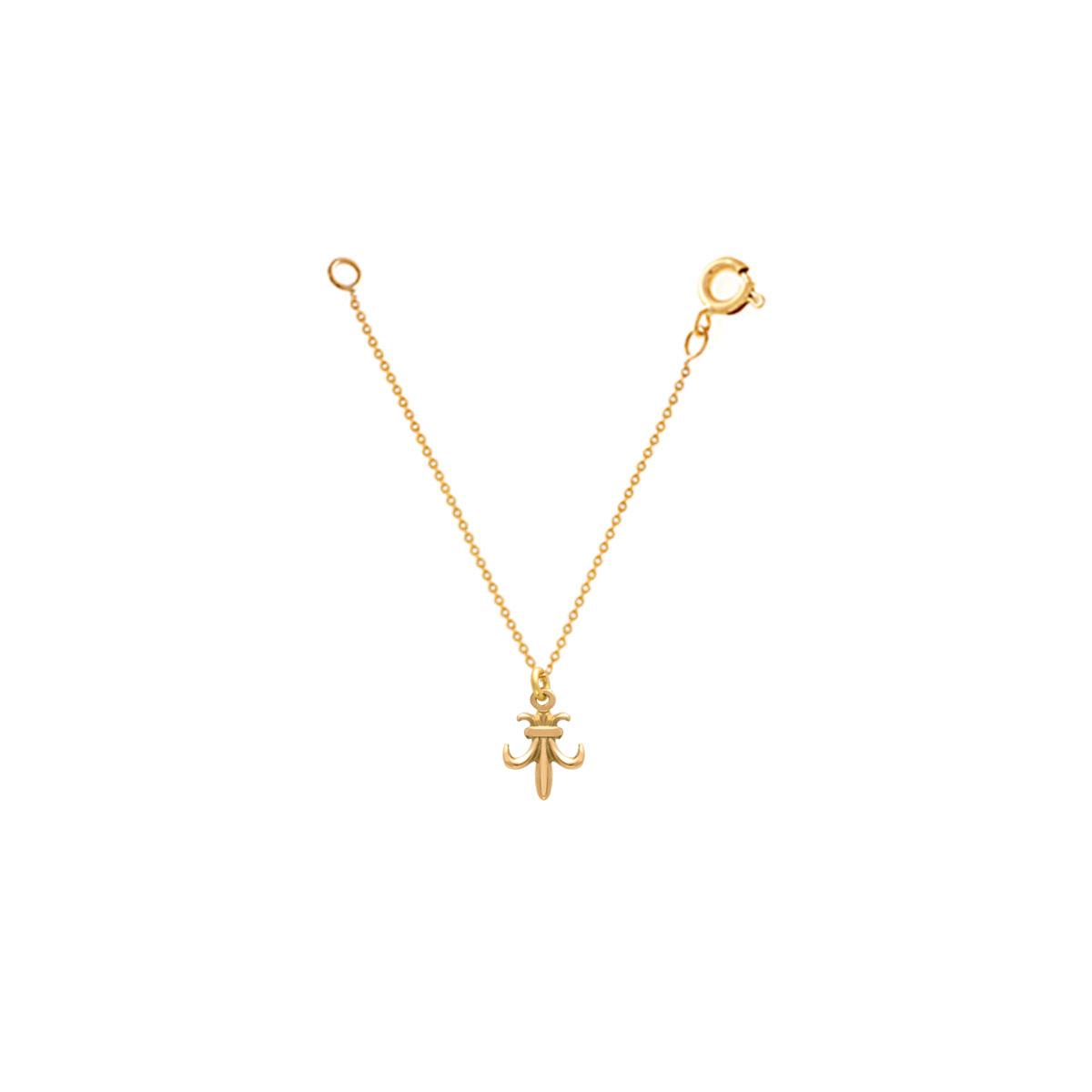 آویز ساعت طلا خنجر کوچک