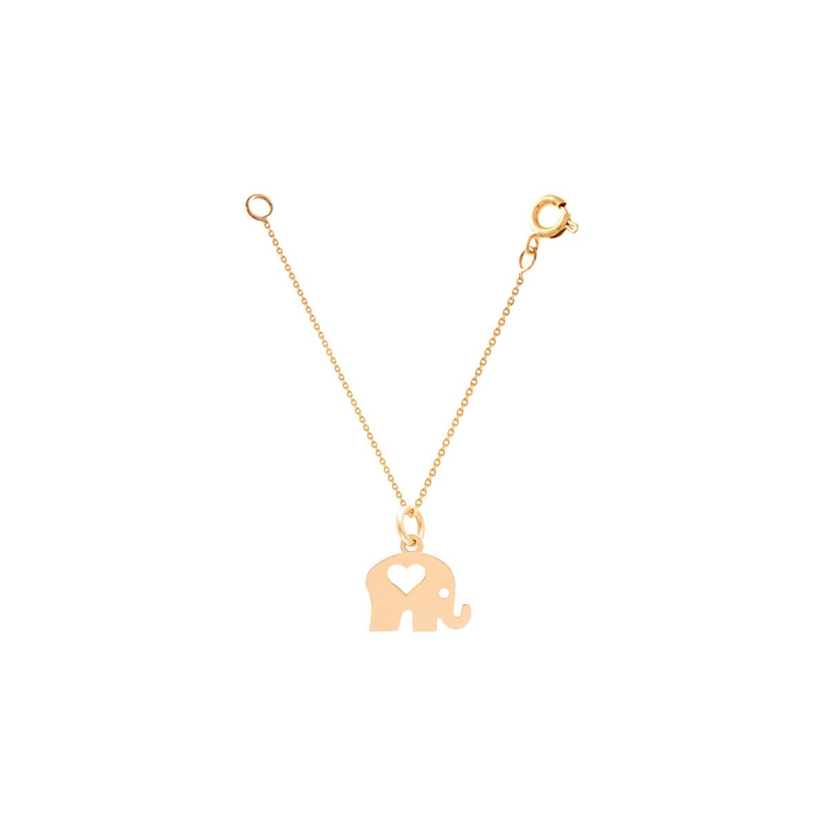 آویز ساعت طلا فیل