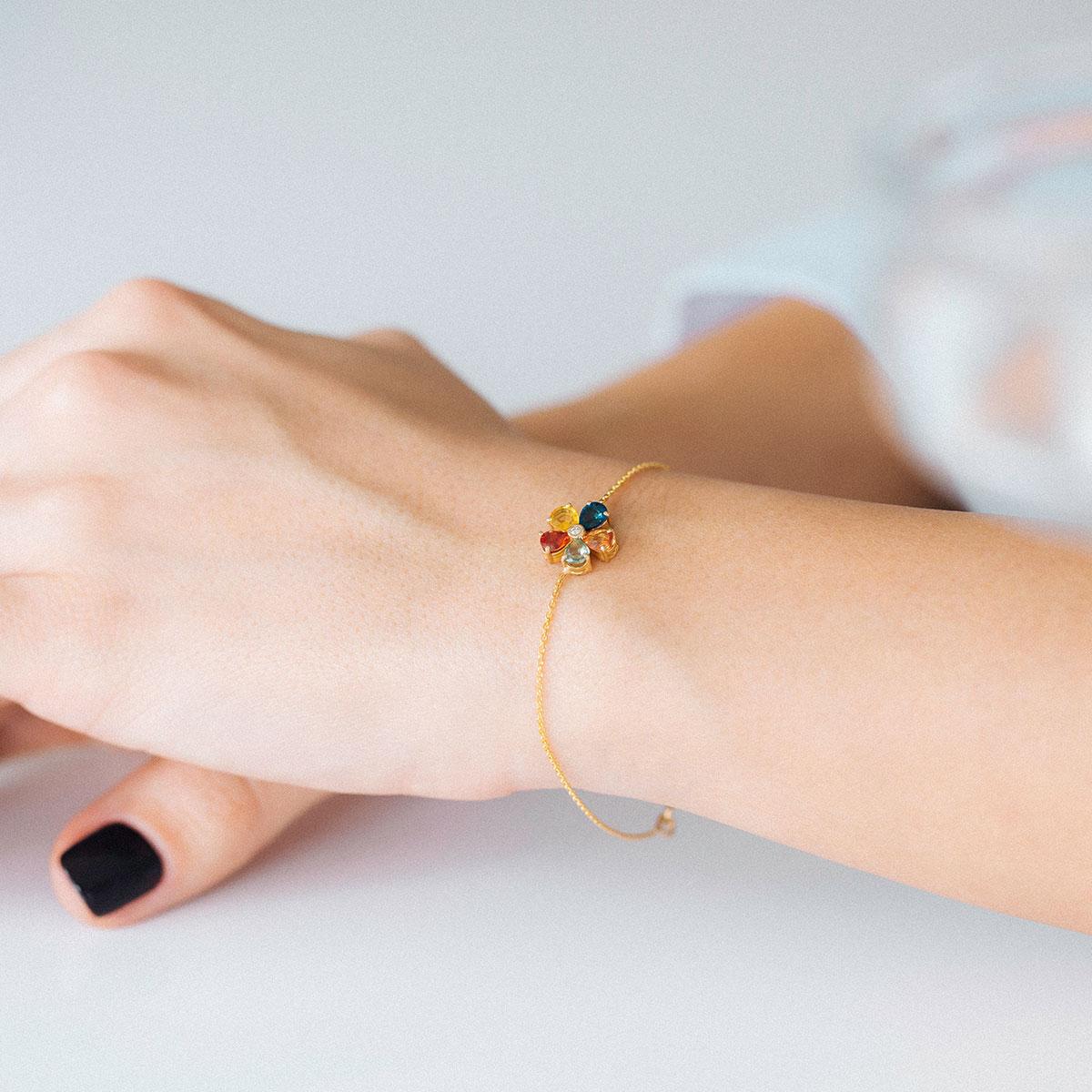 دستبند طلا مولتی کالر