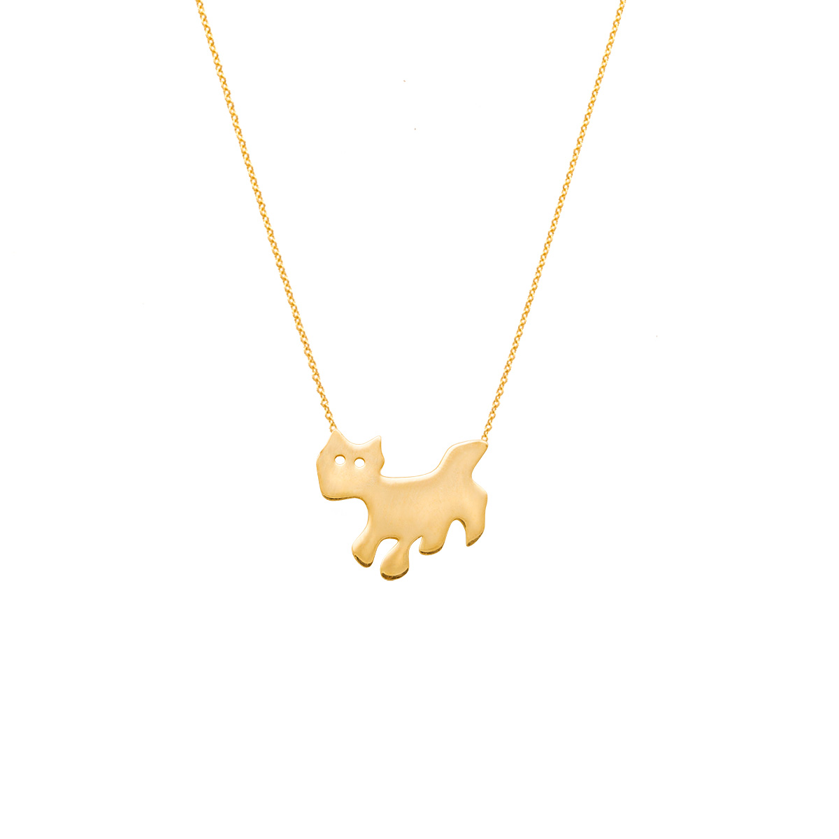 پرسته گردنبند طلا گربه