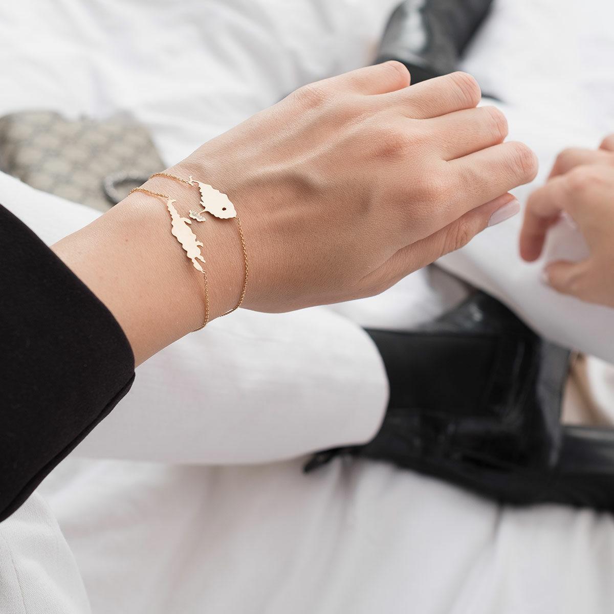 دستبند طلا تمساح