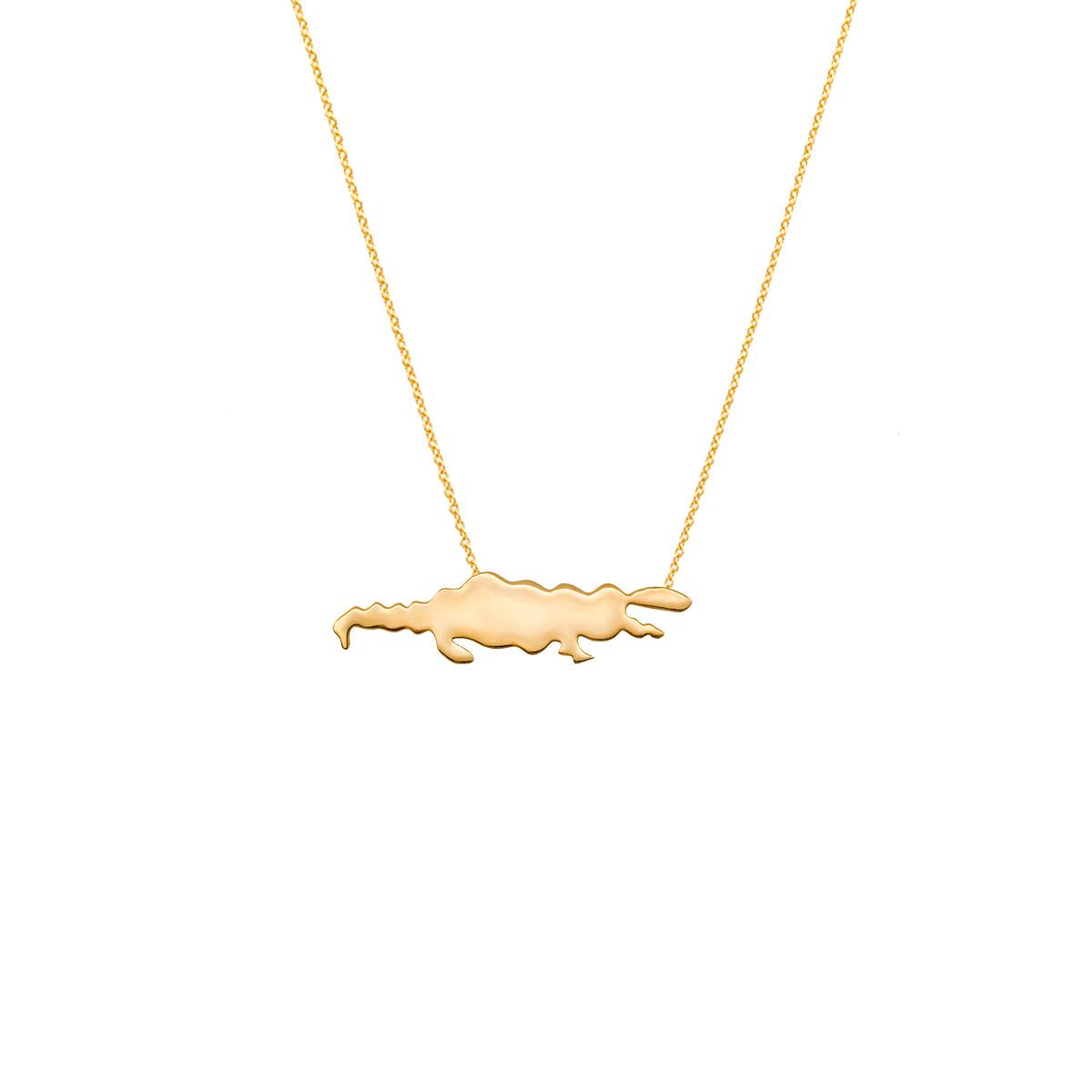 پرسته گردنبند طلا تمساح