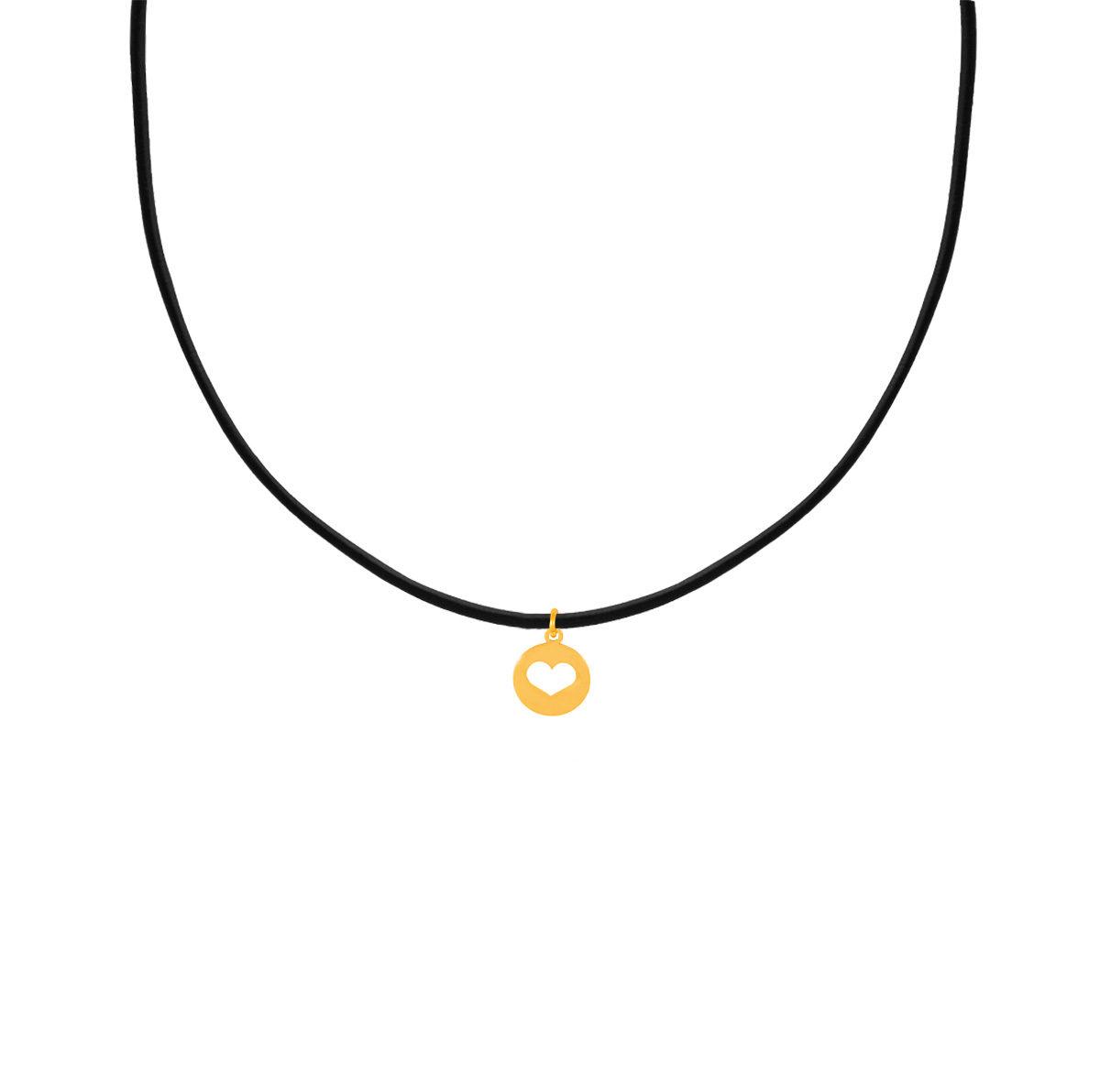 پرسته گردنبند طلا پلاک قلب