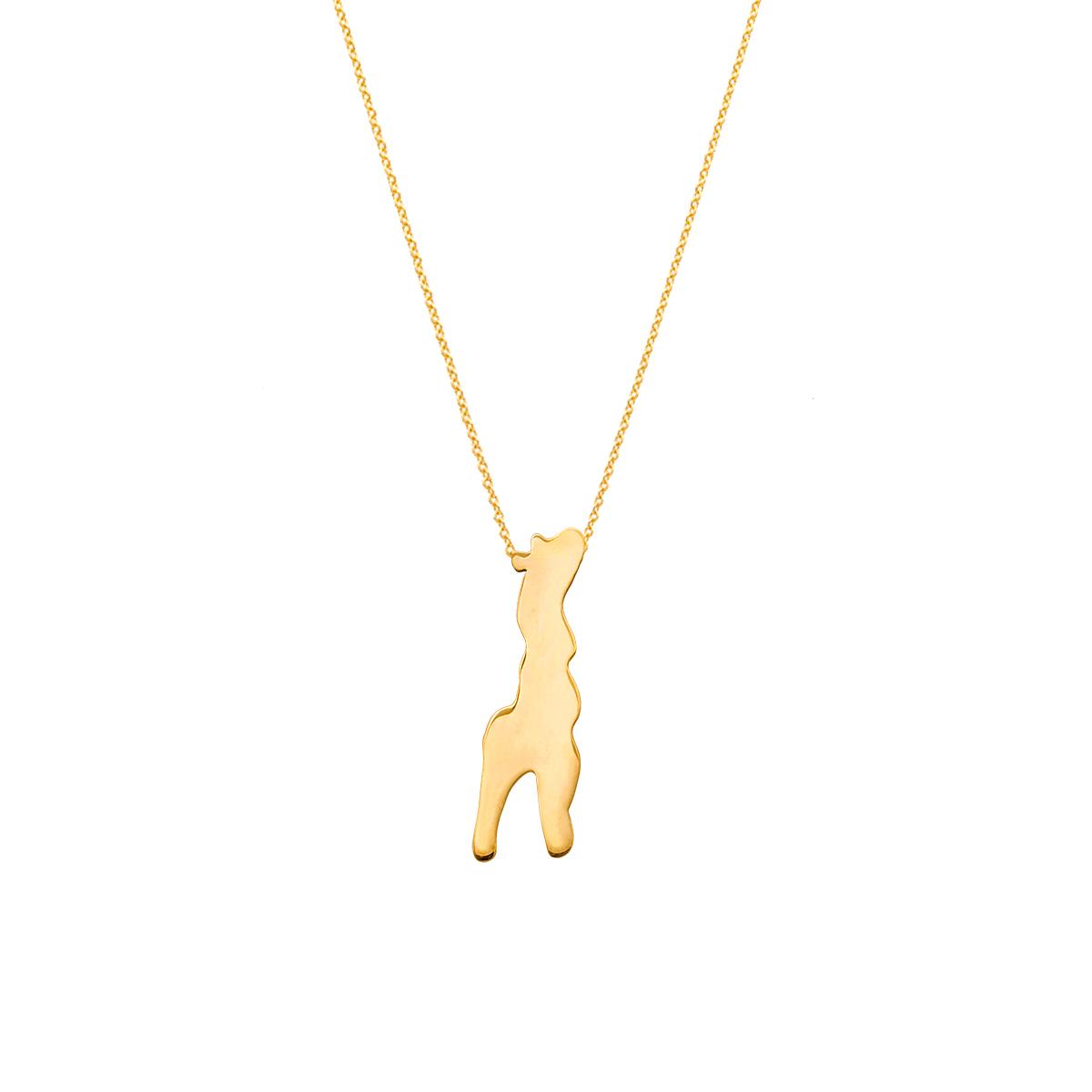 پرسته گردنبند طلا زرافه