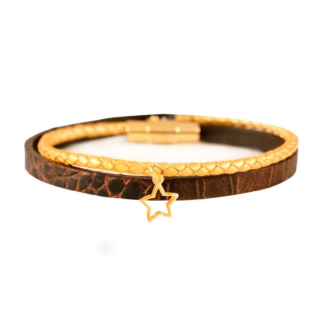 دستبند طلا ستاره تو خالی