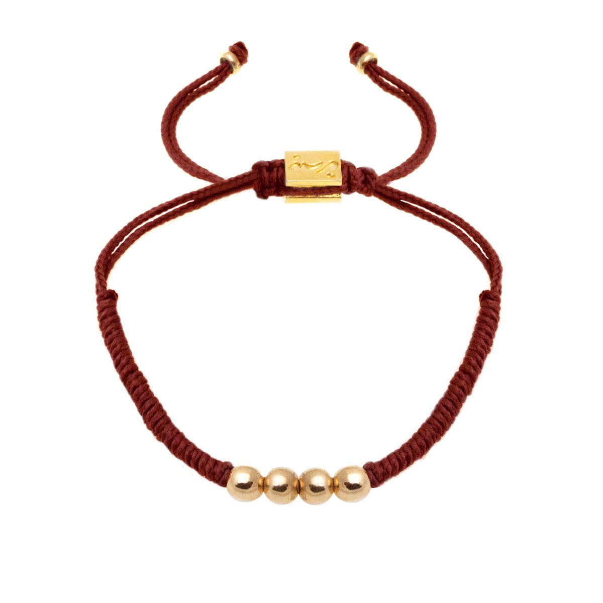 دستبند طلا بافت چهارگوی