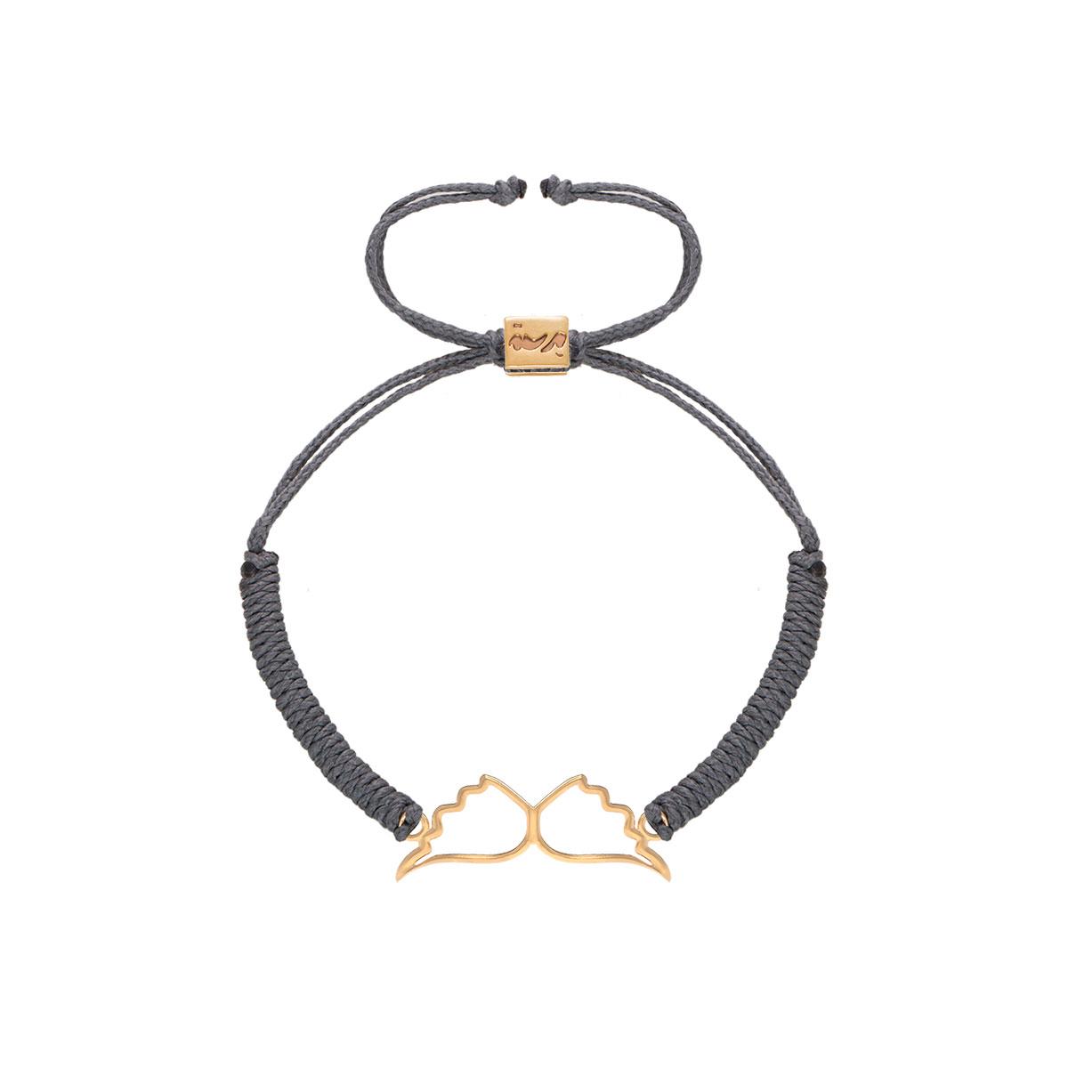 دستبند طلا بافت بال فرشته